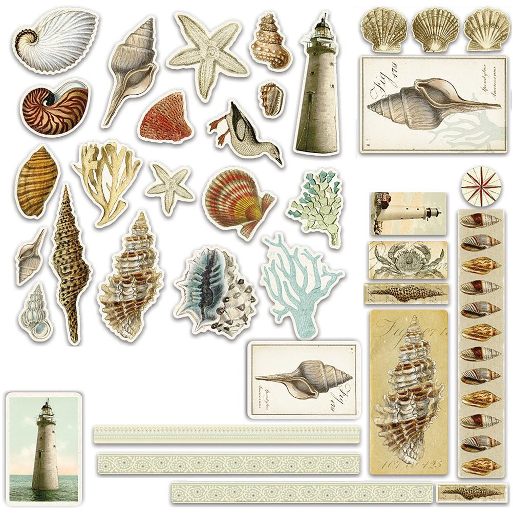Couture Creations - Ephemera 36/Pkg - Seaside And Me (CO726152)
