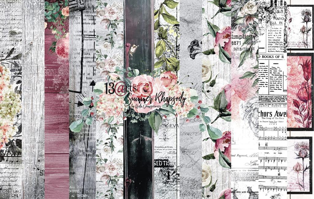 13@rts - 12x12 Paper Collection 6/Pkg - Summer Rhapsody (ARTSR00)