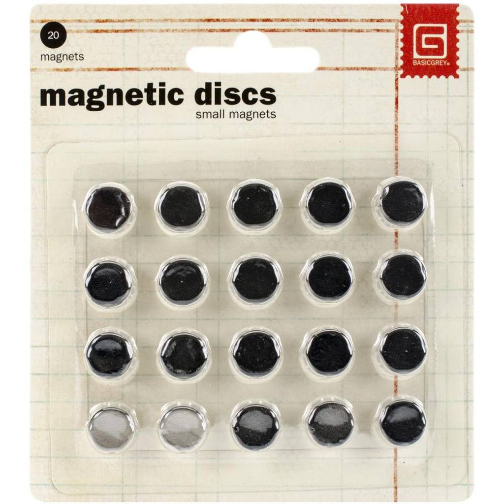 "Basic Grey - Magnetic Discs .375"" 20/Pkg (MET359)"