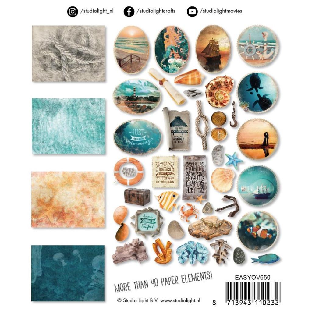 Studio Light - Paper Elements Set - #650 Ocean View (EASY650)