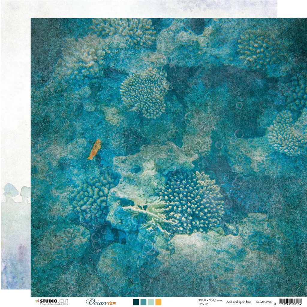Studio Light - 12x12 Paper Collection - Ocean View (SLOV-8/Pkg)