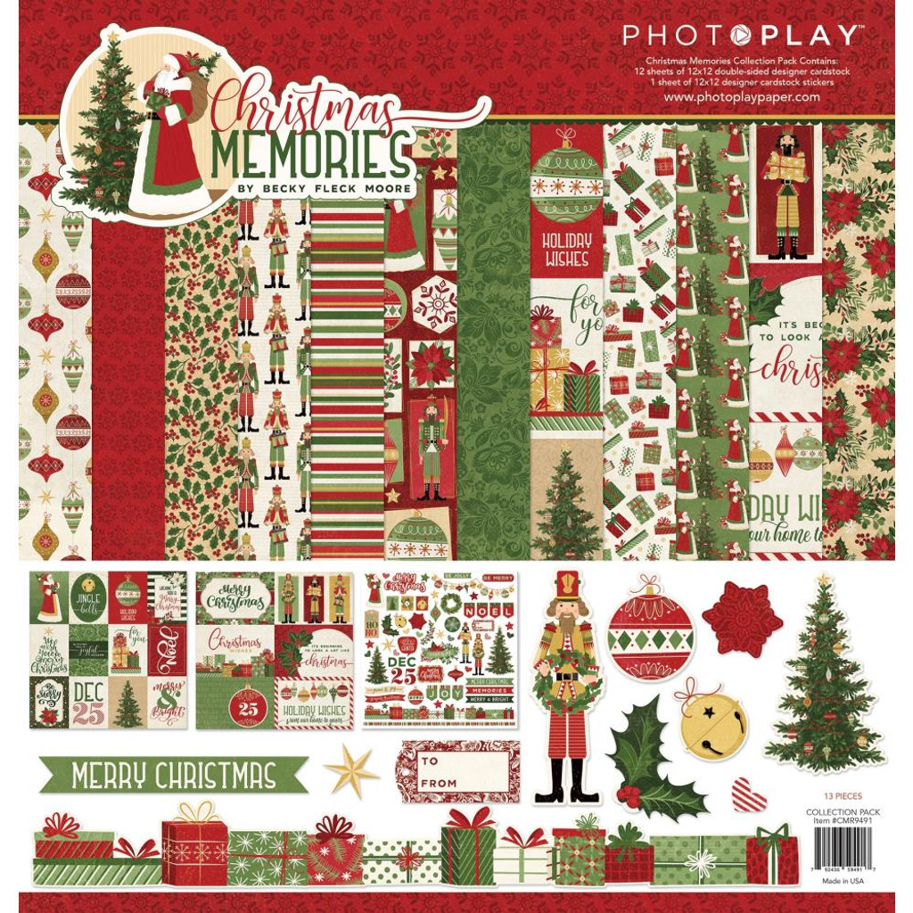 """Photo Play - Collection Paper Pack 12""""X12"""" - Christmas Memories (CMR9491)"""