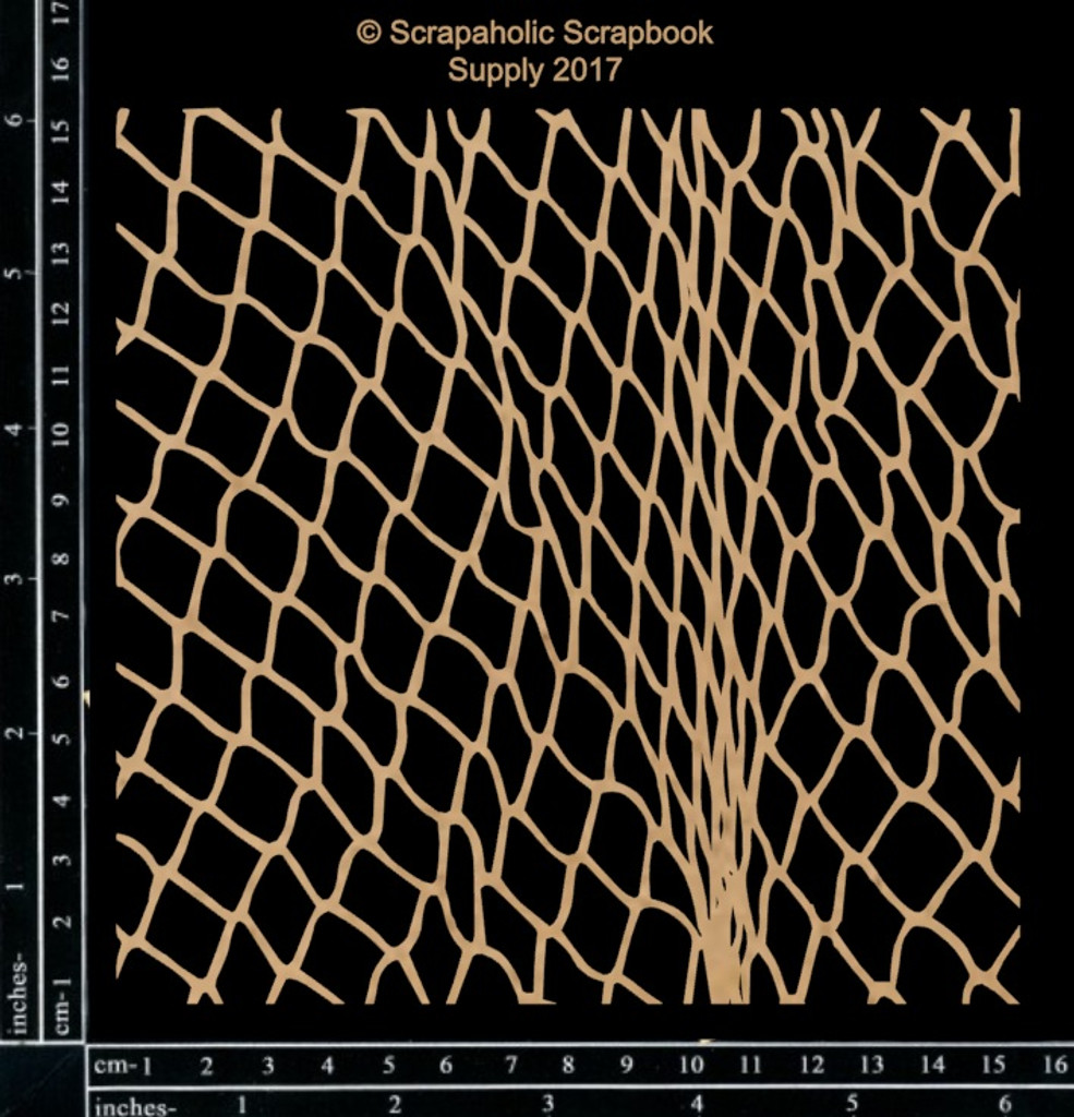 Scrapaholics - Laser Cut Chipboard - Fish Net Panel (S49927)