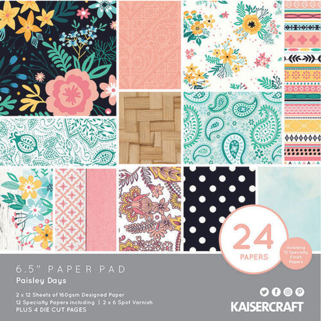 Kaisercraft - Bundle - Paisley Days - 6.5 x 6.5 paper pad
