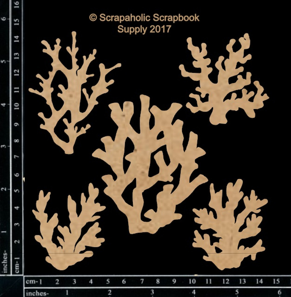 Scrapaholics - Laser Cut Chipboard - Coral Pieces #1 (S51852)