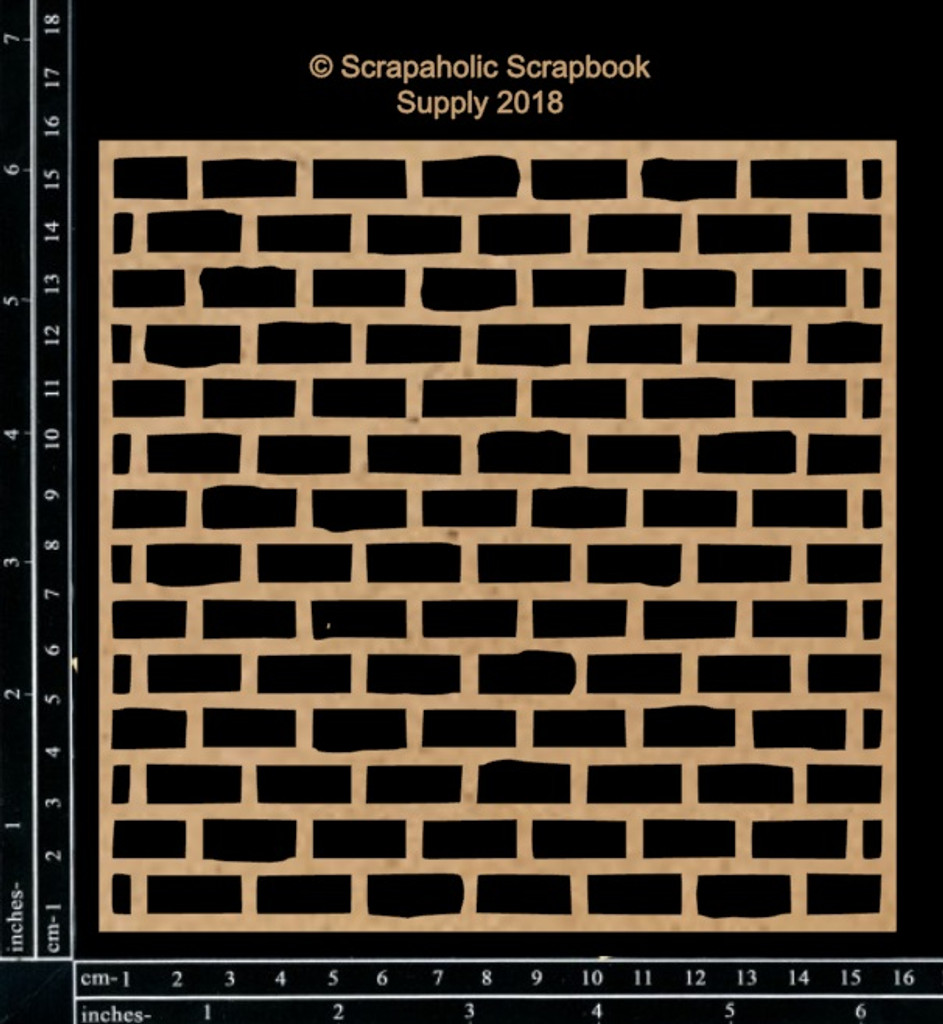 Scrapaholics - Laser Cut Chipboard - Brick Wall Panel (S49484)