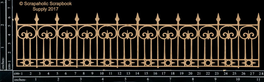 Scrapaholics - Laser Cut Chipboard - Ornate Fence (S50565)