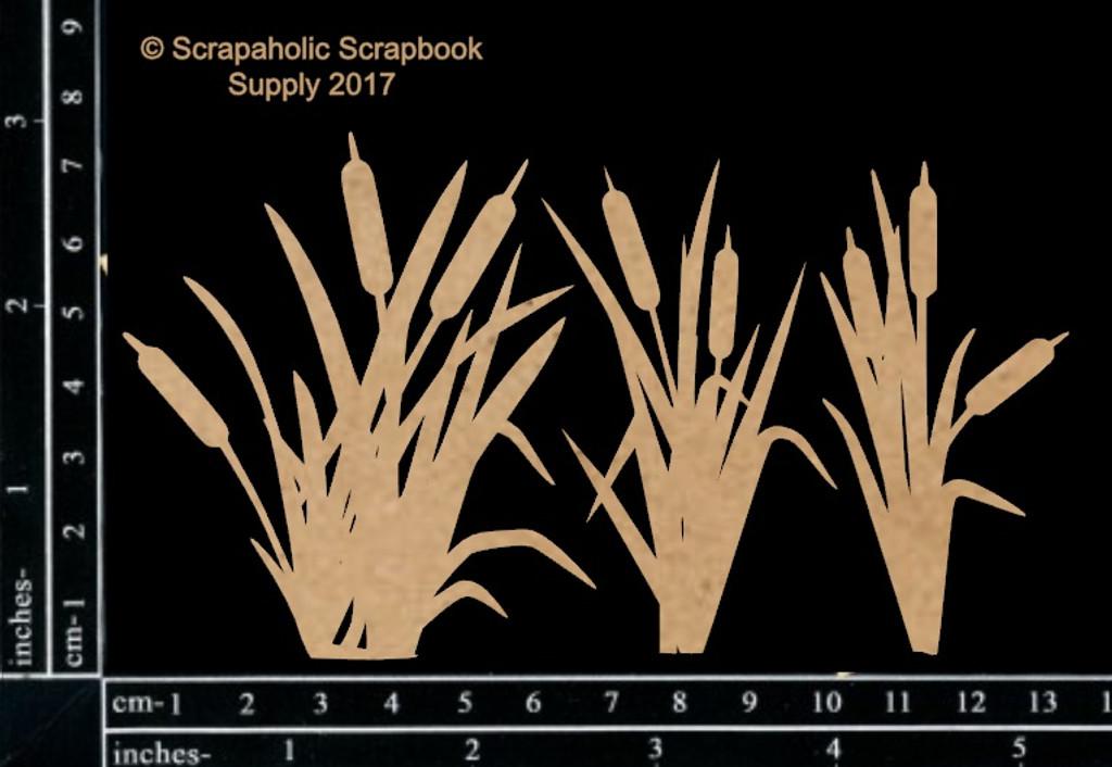 Scrapaholics - Laser Cut Chipboard - Cattails (S49811)
