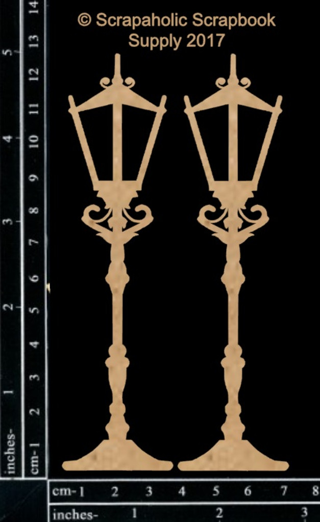 Scrapaholics - Laser Cut Chipboard - Lamp Posts (S50015)