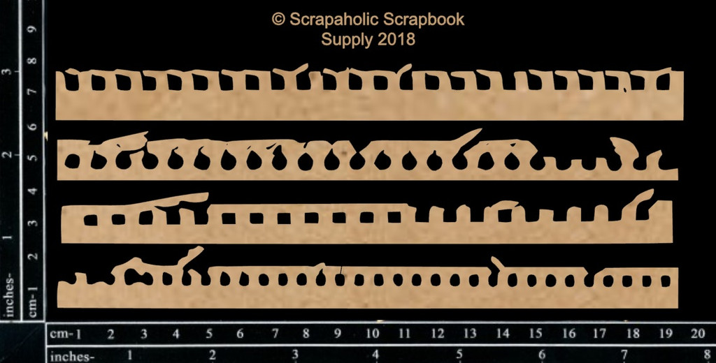 Scrapaholics - Laser Cut Chipboard - Notebook Edges