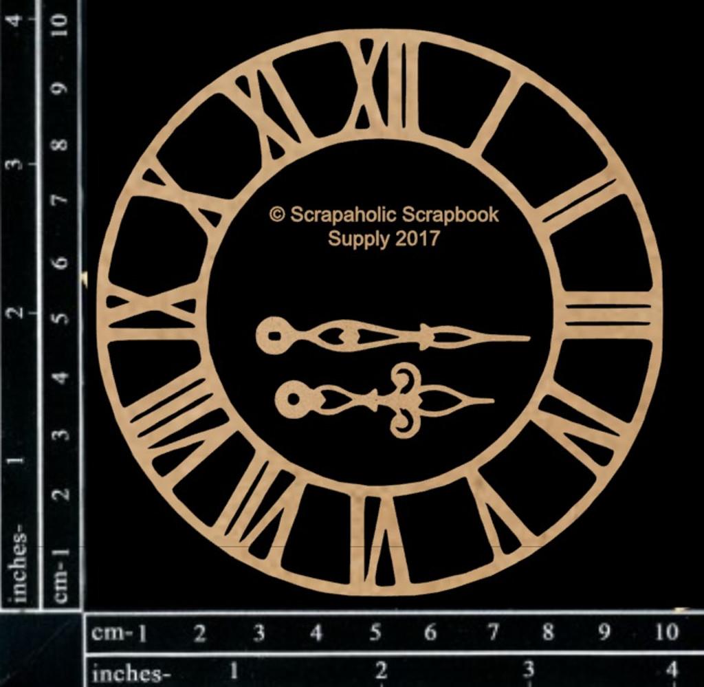 Scrapaholics - Laser Cut Chipboard - Small Roman Clock (S50763)