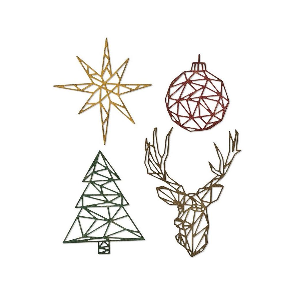 Sizzix - Tim Holtz - Framelits Dies - Geo Christmas (664202)