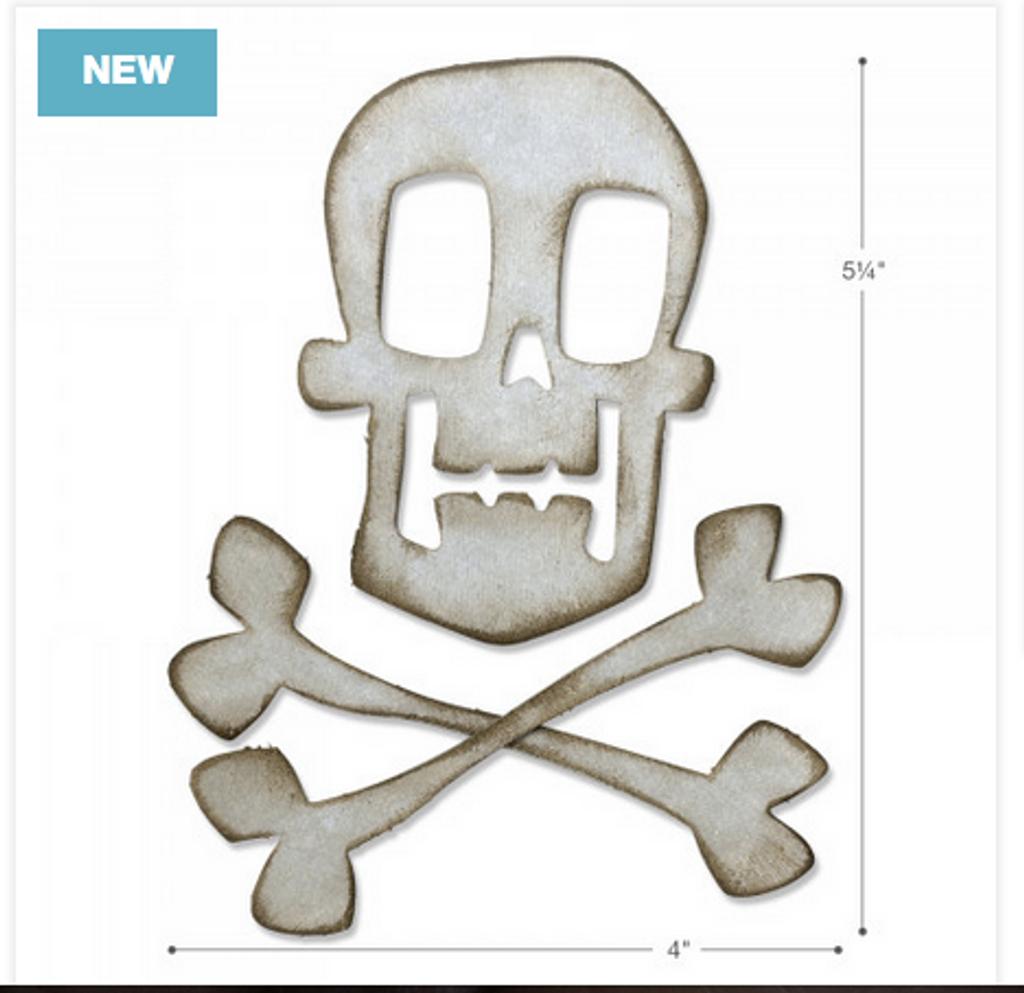 Sizzix - Tim Holtz - Bigz Dies - Skull and Crossbones (664215)