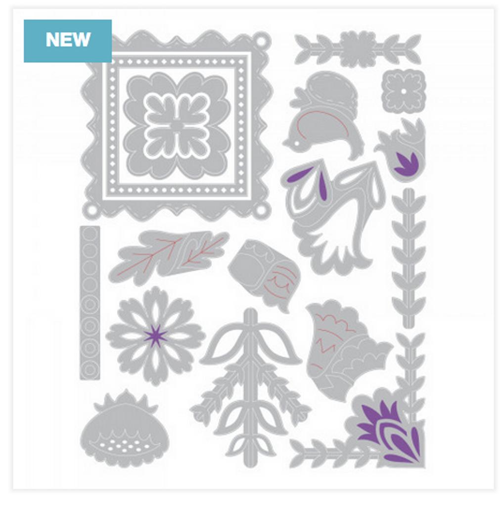 Sizzix - Courtney Chilson - Thinlits Die Set 18/Pkg - Folk Art Elements (663607)