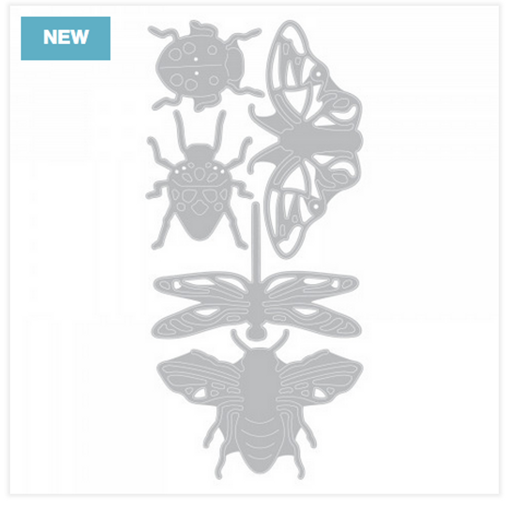 Sizzix - Jennifer Ogborn - Thinlits Die Set - Insects (663423)