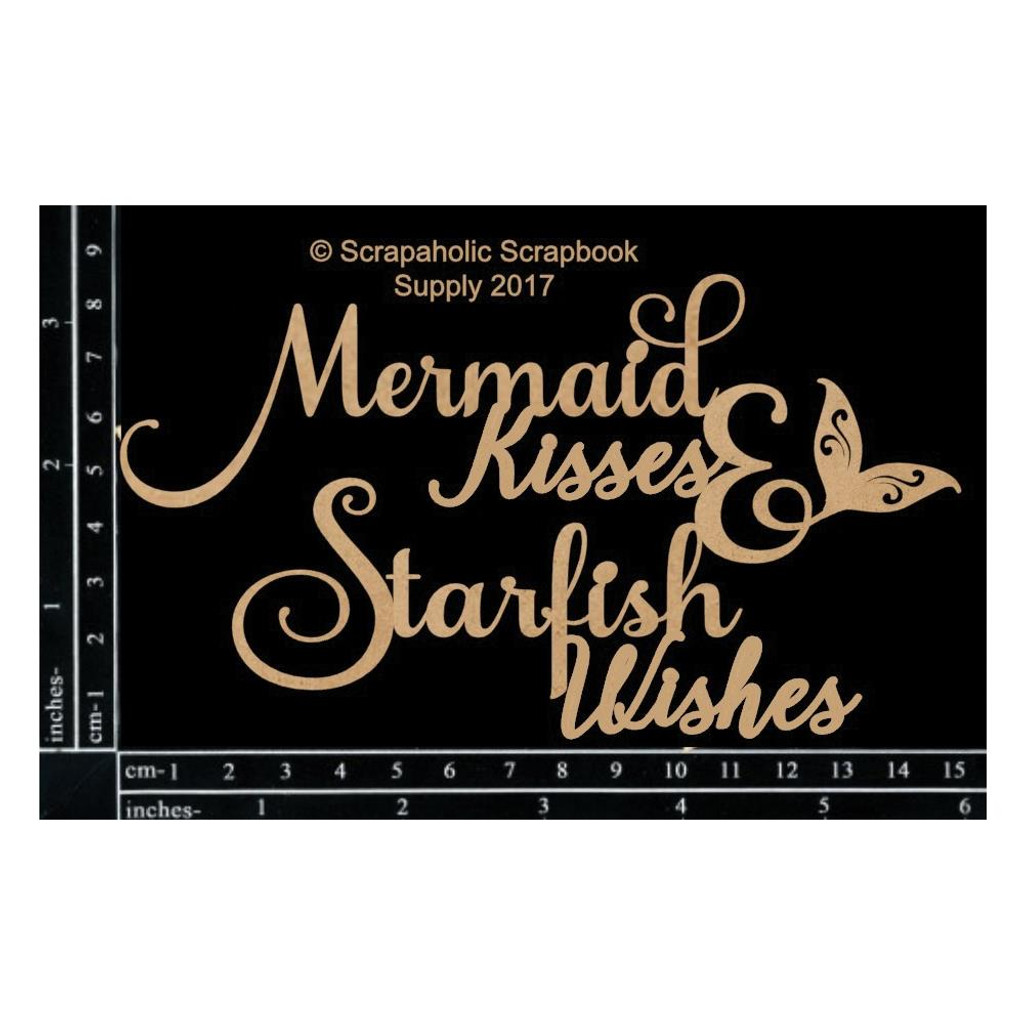 Scrapaholics - Laser Cut Chipboard - Mermaid Kisses (S49286)