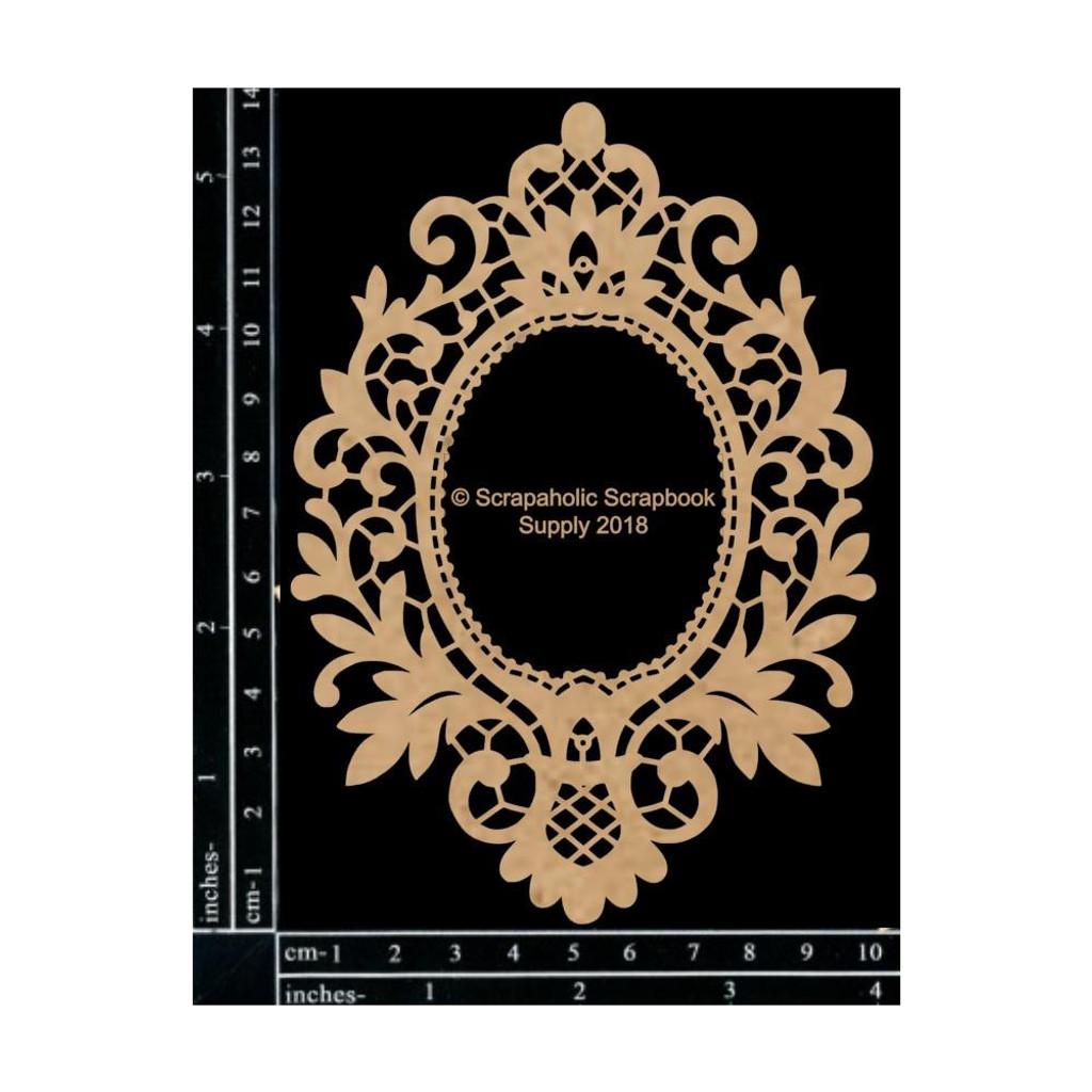 Scrapaholics - Laser Cut Chipboard - Vintage Lace Frame (S50299)