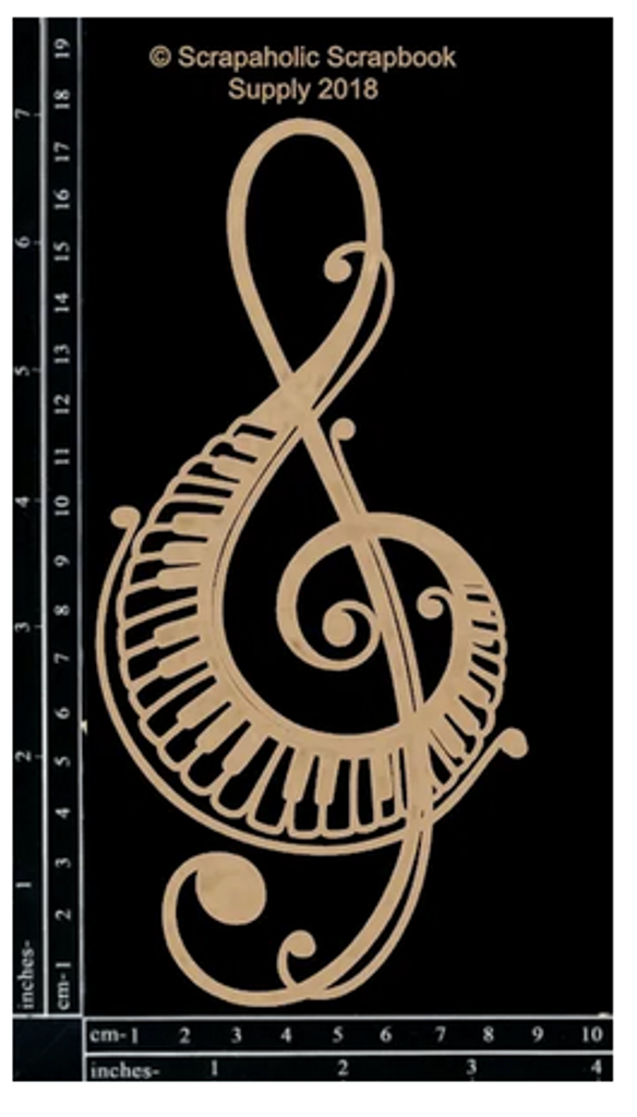 Scrapaholics - Laser Cut Chipboard - Piano Treble Clef (S51067)