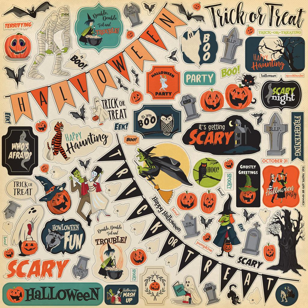 Carta Bella - Element Sticker 12x12 - Happy Halloween (CBHAL104014)