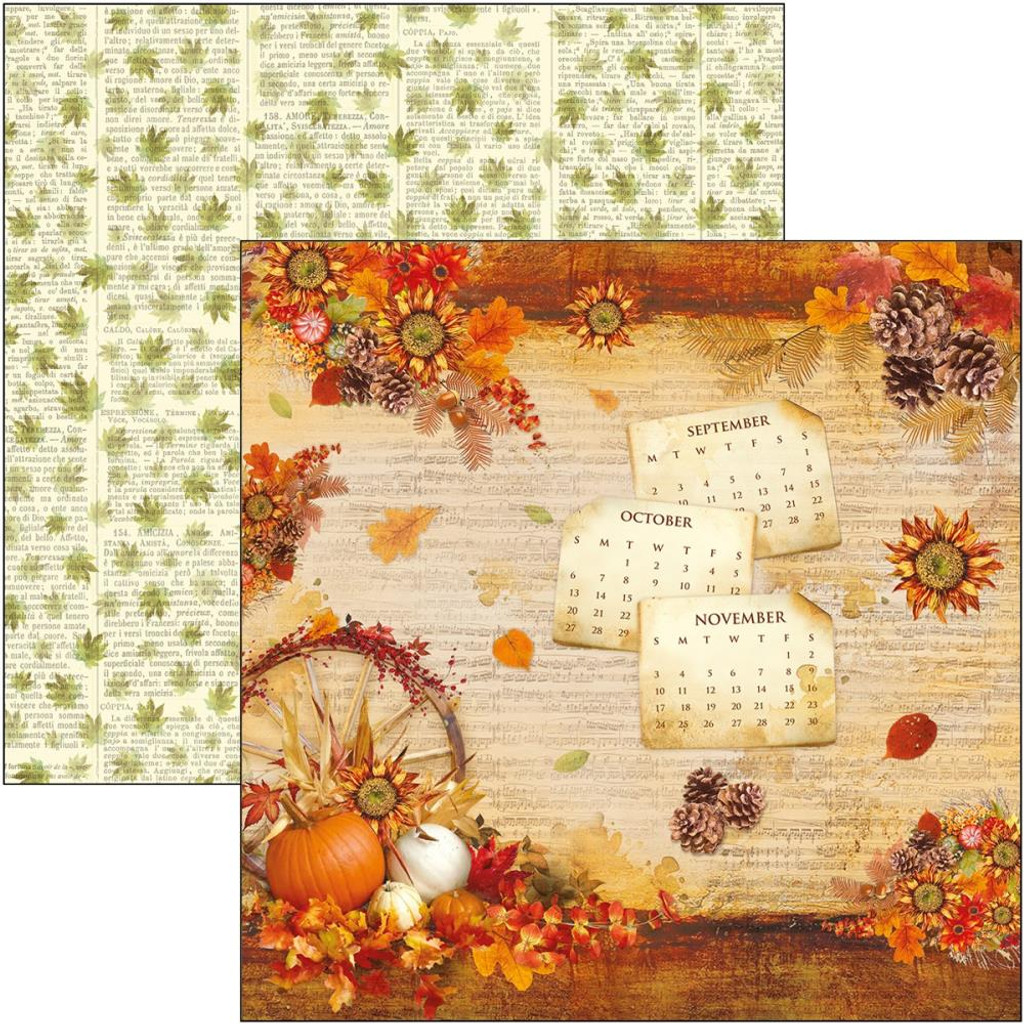 Ciao Bella - Double-Sided Cardstock 12x12 - Sound of Autumn Collection - Sound of Autumn (CBSS078)