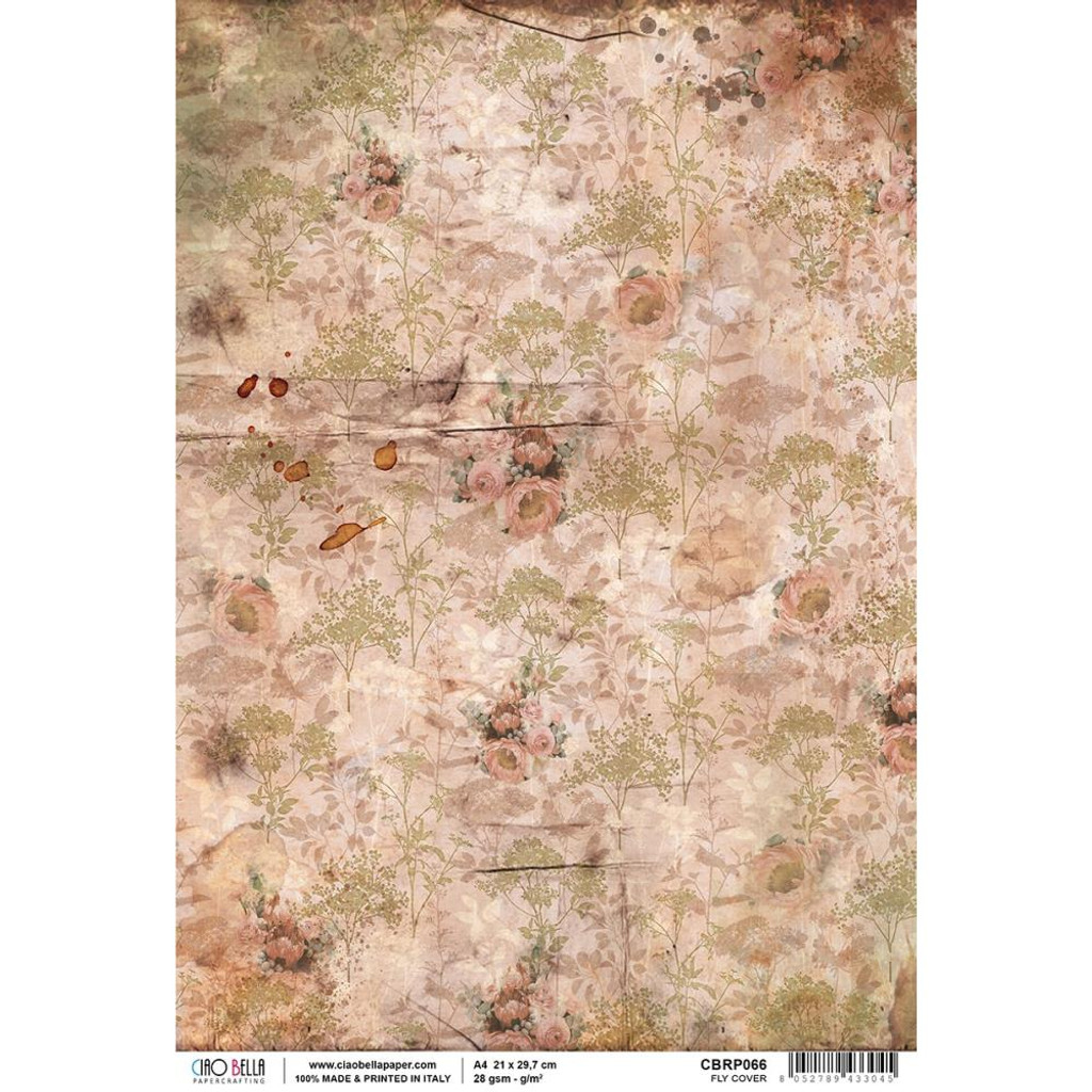 Ciao Bella - Decoupage Rice Paper Sheet - The Muse - Fly Cover (CBRP066)