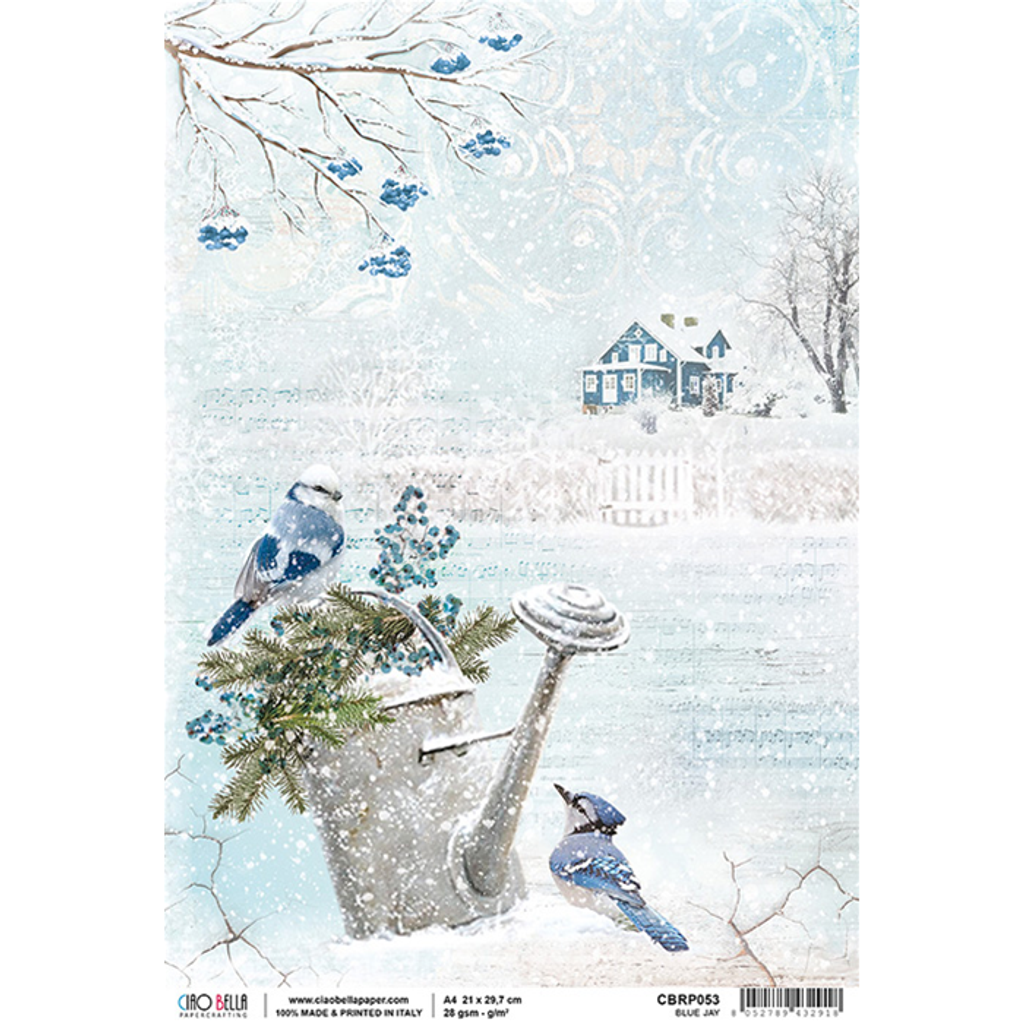 Ciao Bella - Decoupage Rice Paper- Time For Home - Blue Jay (CBRP053)