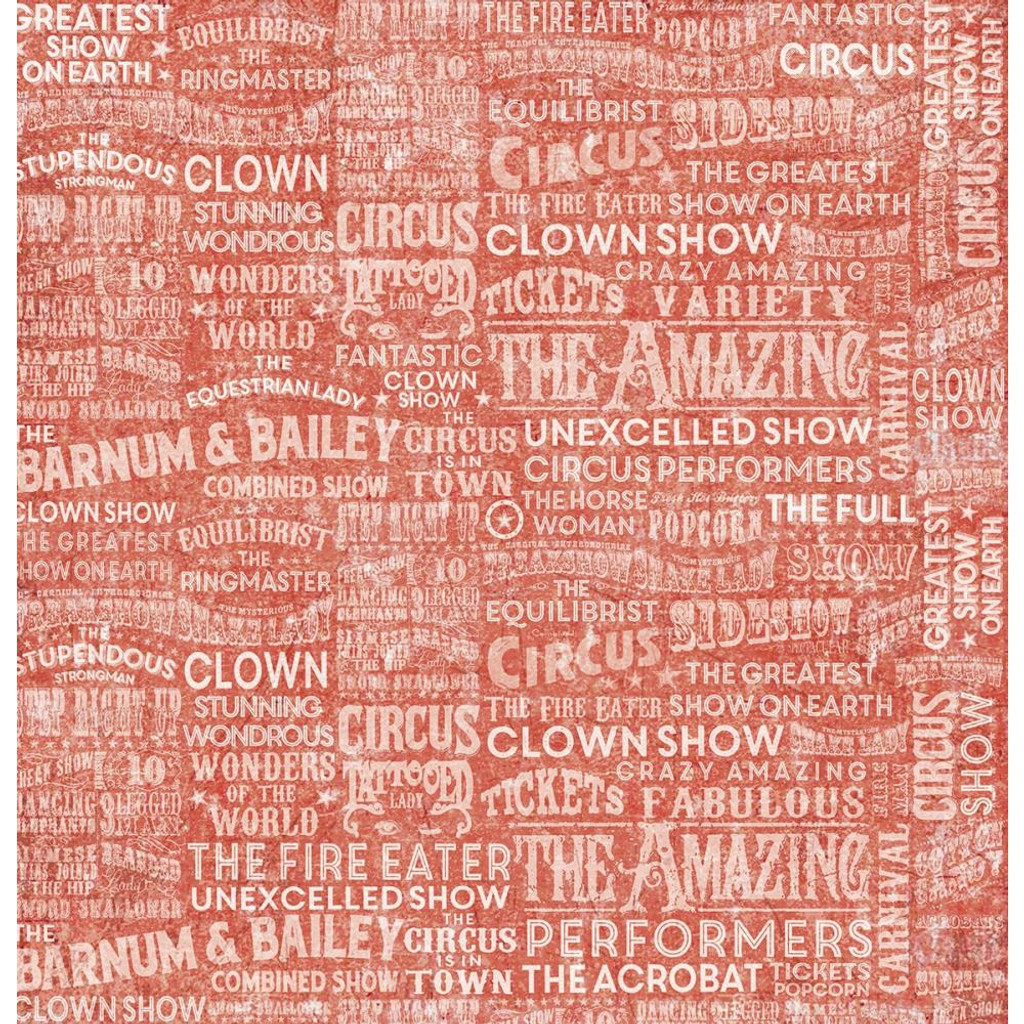 Ciao Bella - Double-Sided Cardstock 12x12 - Greatest Show - Circus Cards (CBSS088)