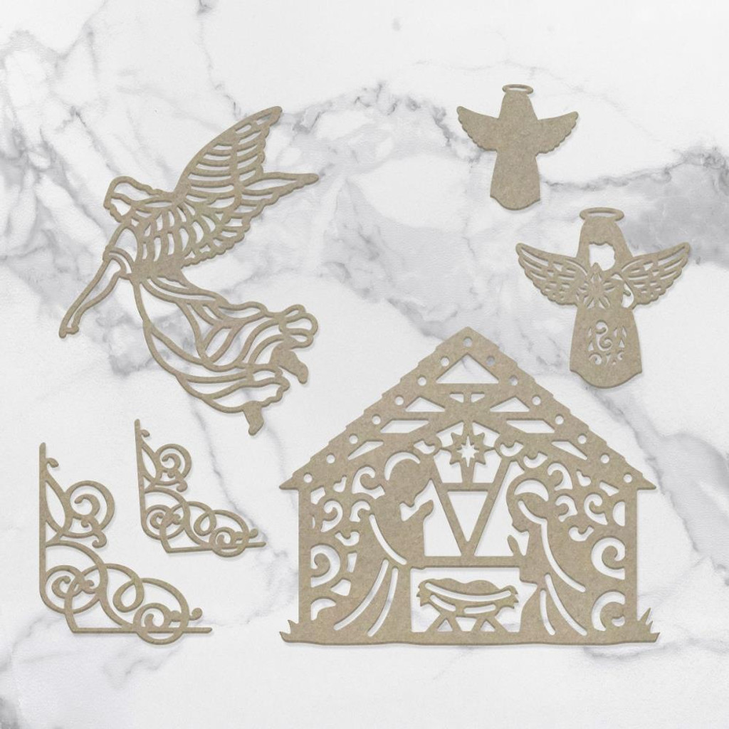 Couture Creations - Laser Cut Chipboard - Away In The Manger (CO727148)