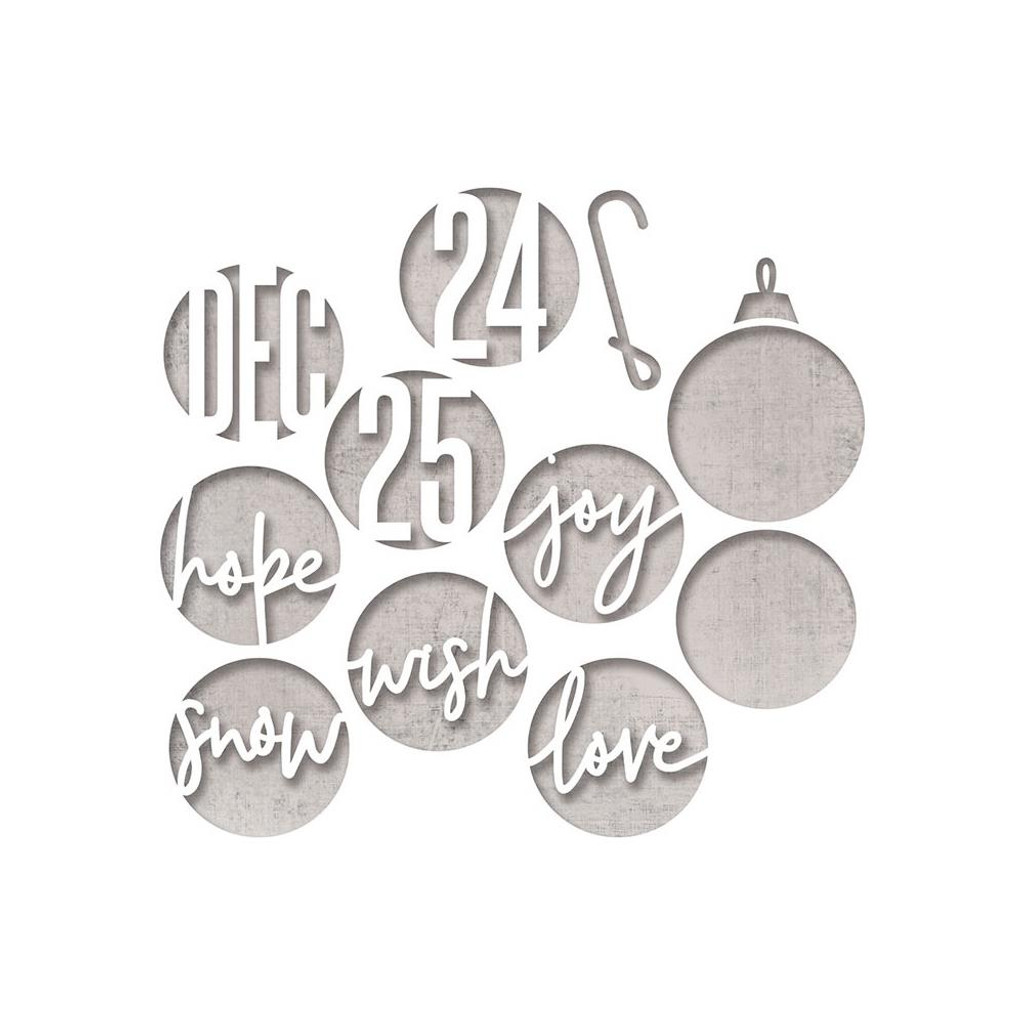Sizzix - Tim Holtz - Framelits Dies - Circle Words (664205)