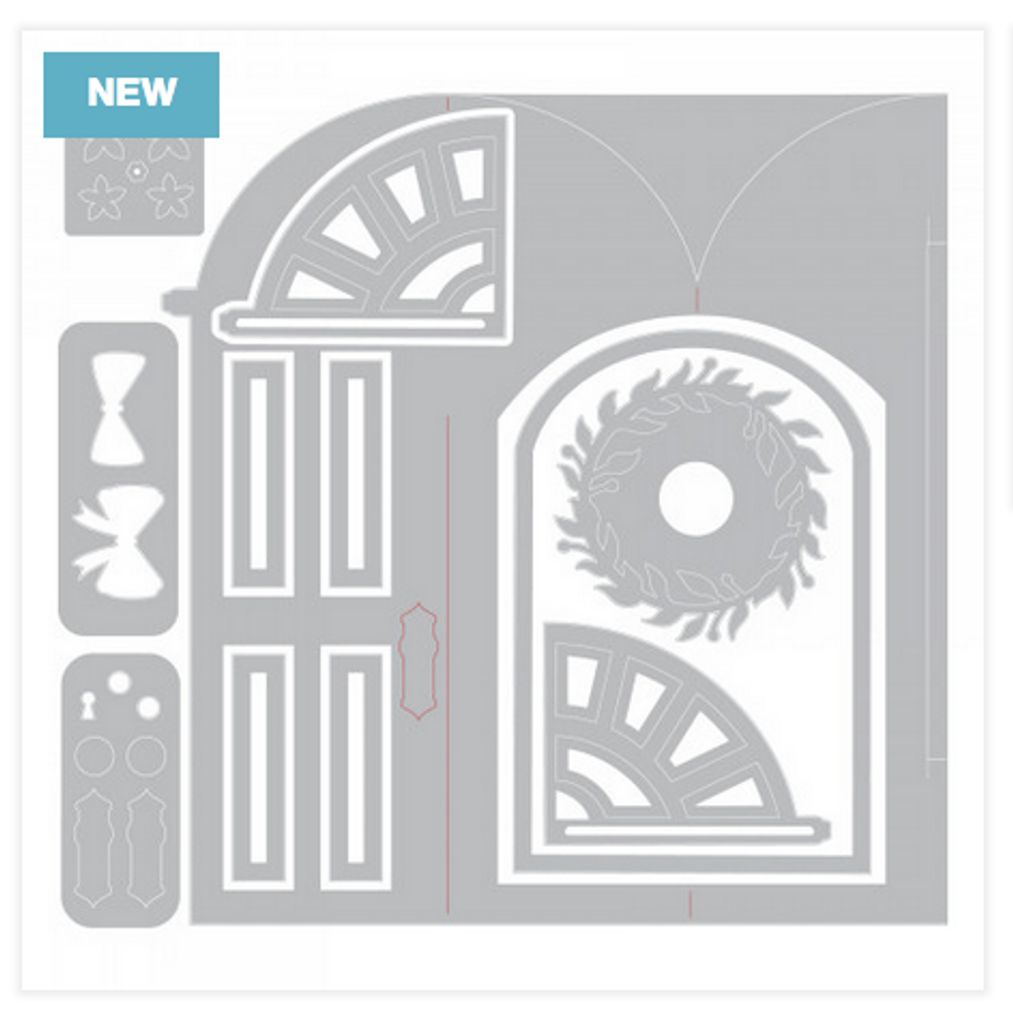 Sizzix - Jen Long - Thinlet Dies - Fold-A-Long Card - Door (663605)