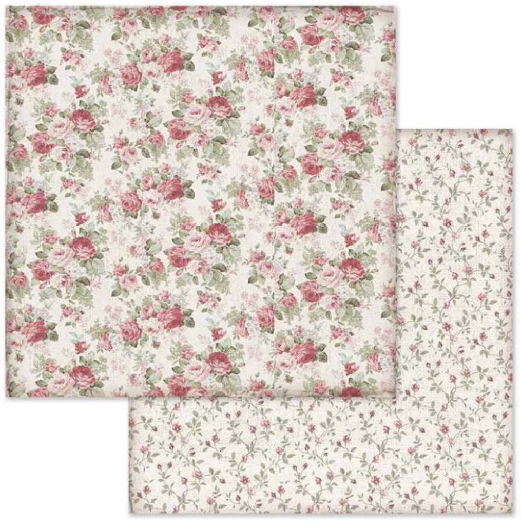 Stamperia - Double-Sided Cardstock 12x12 - Grand Hotel - Rose Buds (SBB650)