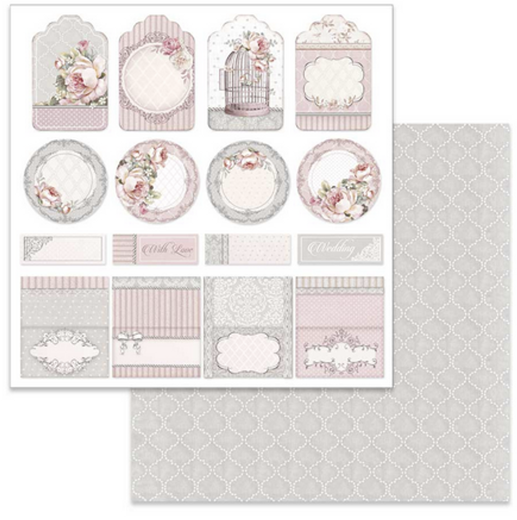 """Stamperia - Double-Sided Paper Pack 12""""X12.4"""" 6/Pkg - Wedding (SBBKL602)"""