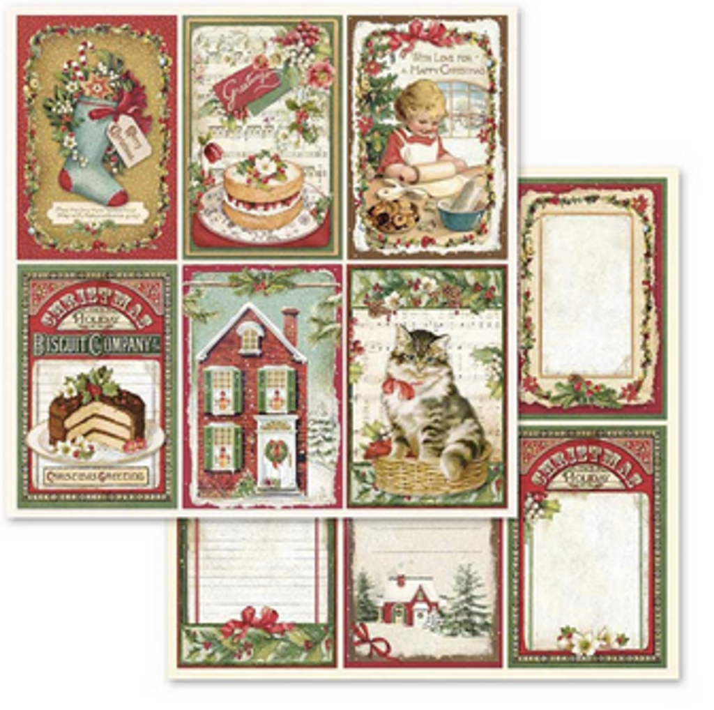 Stamperia - Collection Pack 8x8 - Christmas Vintage (SBBS02)