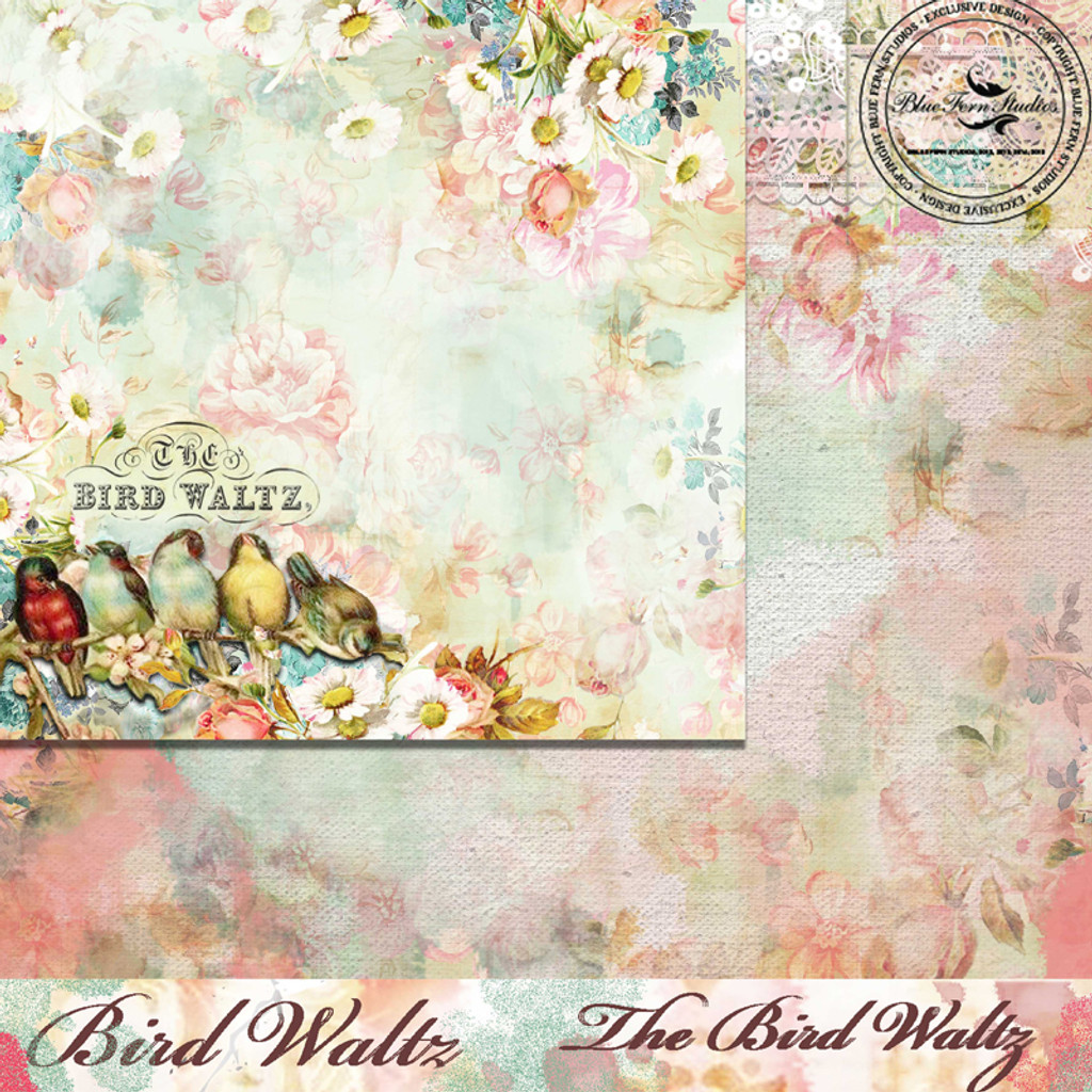 Blue Fern Studios - Bird Waltz - 12x12 dbl sided paper - The Bird Waltz (690875)