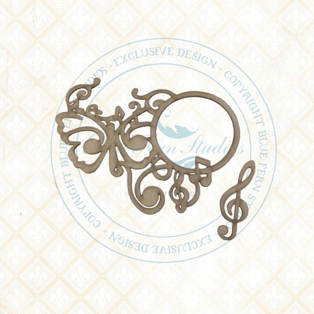 Blue Fern Studios - Chipboard - Bird Waltz - Melody (693272