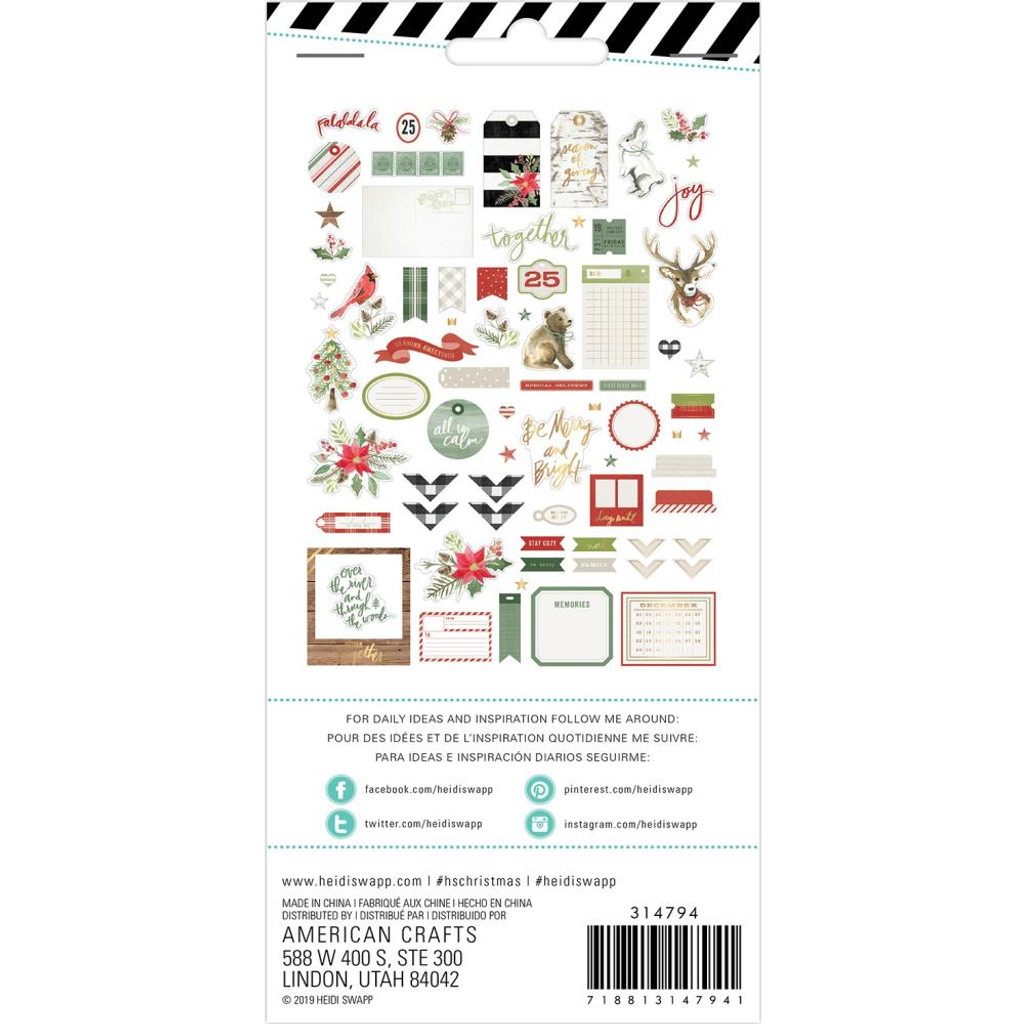 Heidi Swapp - Ephemera Die-Cuts 72/Pkg - Winter Wonderland (HS314794)