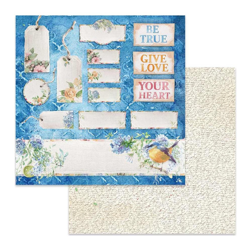 Stamperia - Double-Sided Cardstock 12x12 - Flowers For You - Tags and Tickets (SBB647)