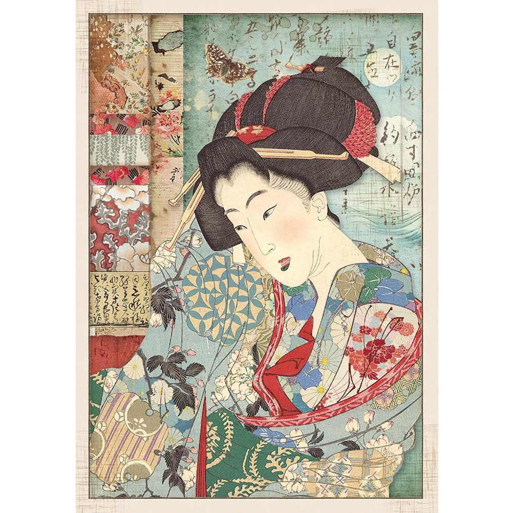 Stamperia - Decoupage Rice Paper A4 - Oriental Garden Collection - Geisha (DFSA4392)