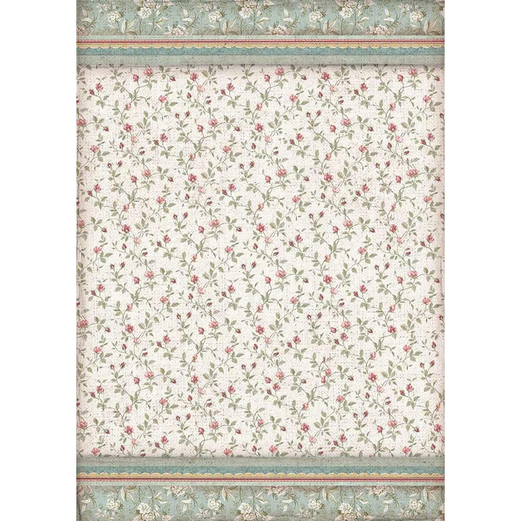 Stamperia - Decoupage Rice Paper A3 - Grand Hotel Collection - Texture Buds (DFSA3041)