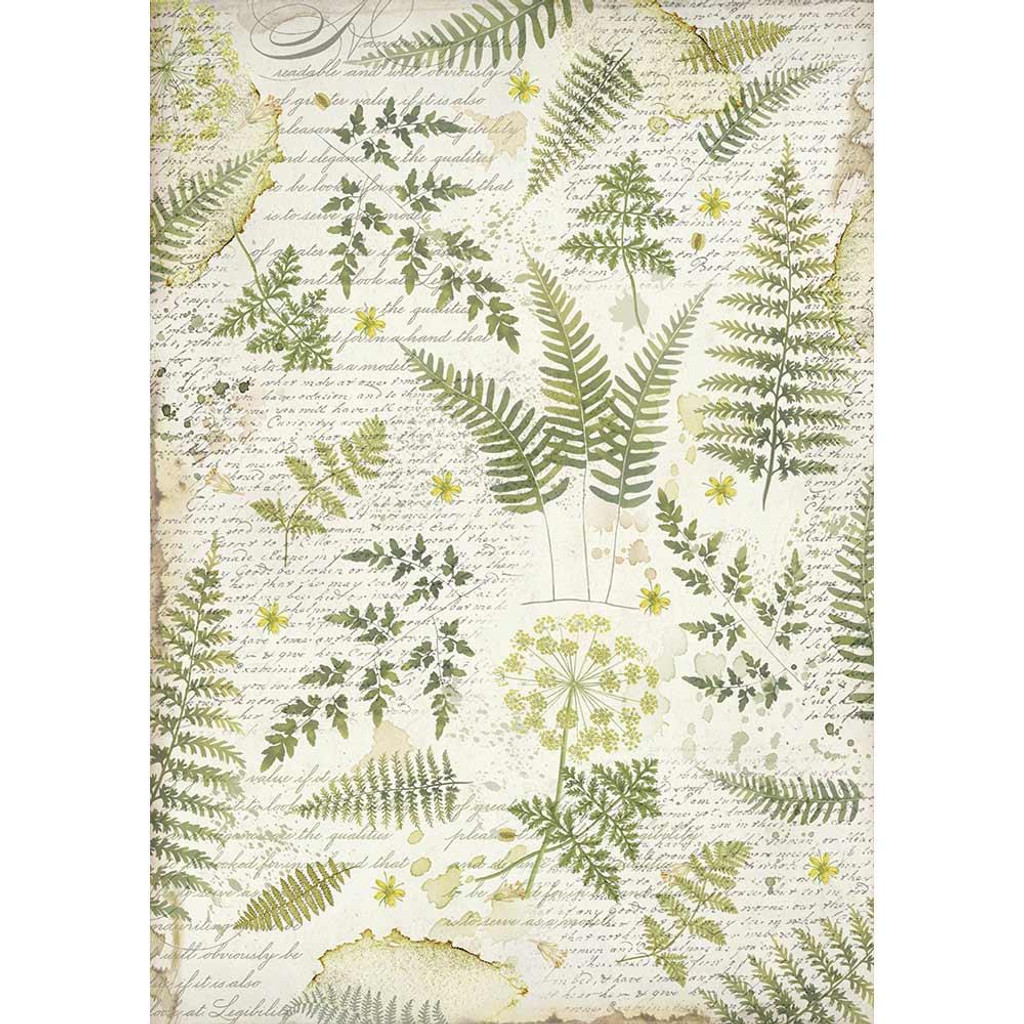 Stamperia - Decoupage Rice Paper A3 - Leaves (DFSA3047)