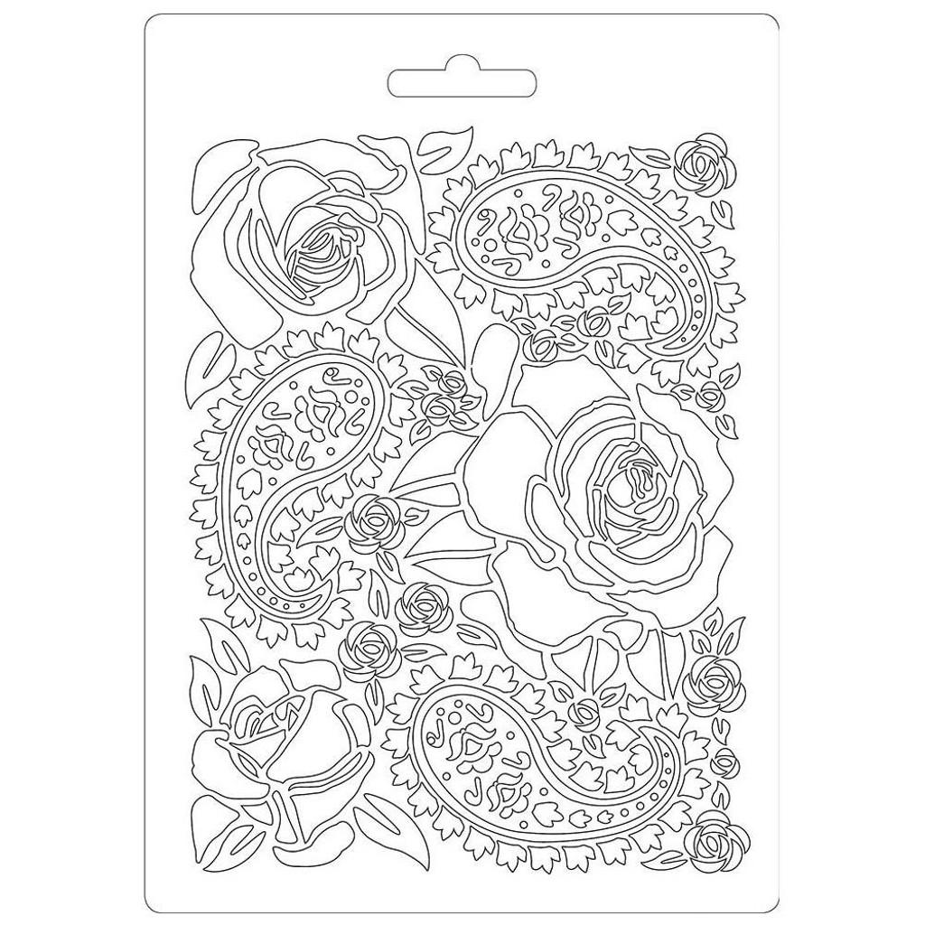 "Stamperia Soft Maxi Mould 5.75""X8.25"" - Roses (K3PTA520)"