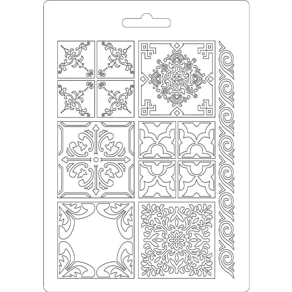 "Stamperia Soft Maxi Mould 5.75""X8.25"" - Azulejos (K3PTA523)"