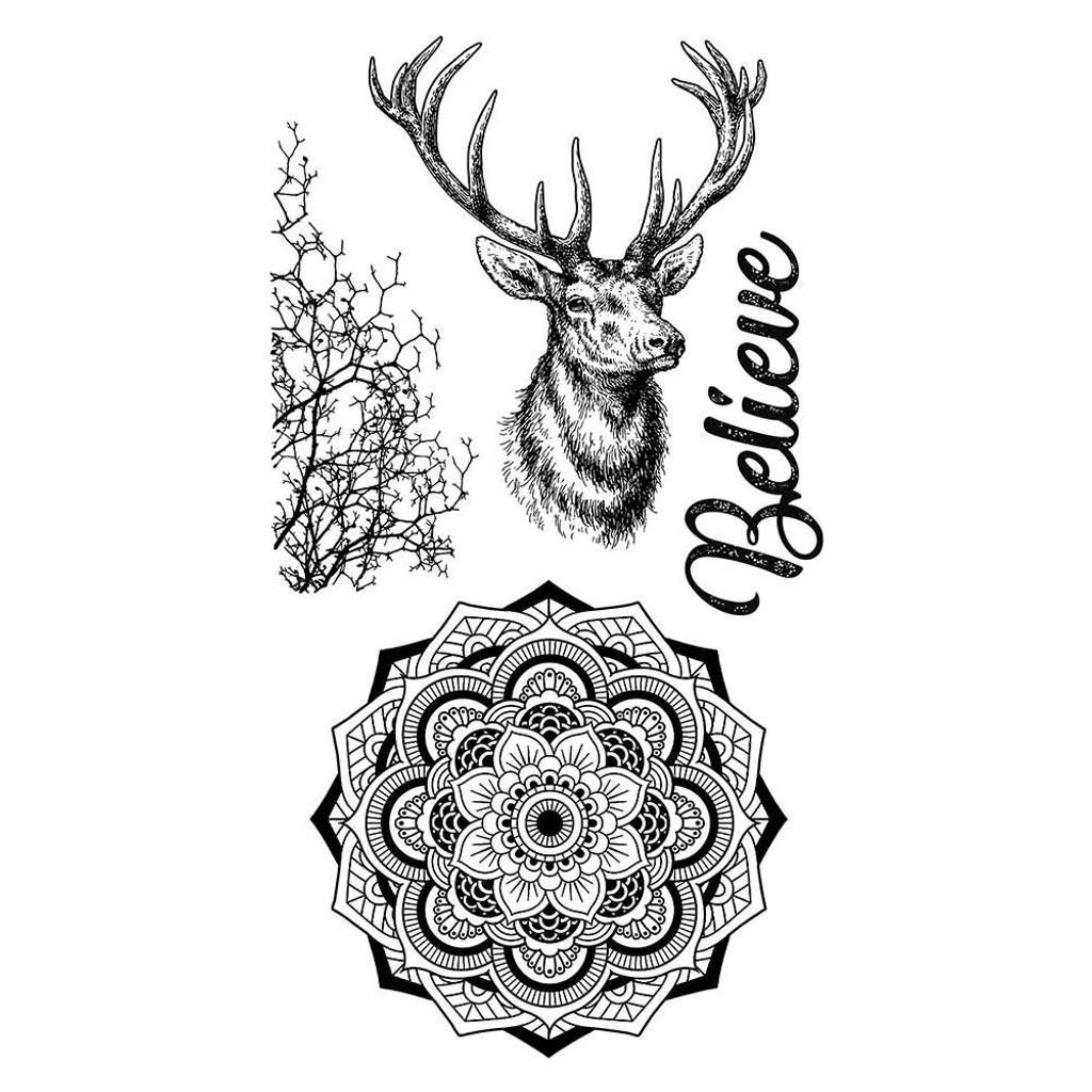 "Stamperia Cling Stamp 5.90""X7.87"" -  Cosmos Deer (WTKCCR03)"