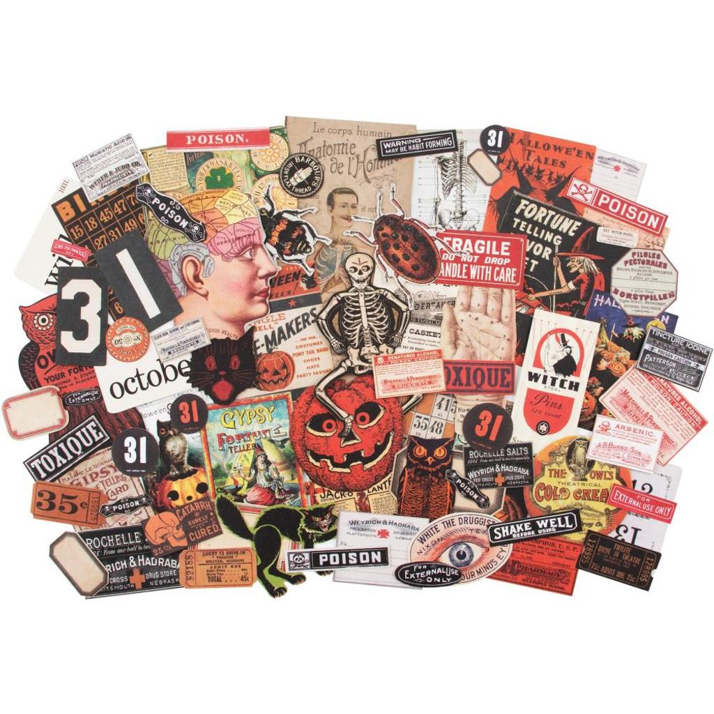 Tim Holtz - Idea-Ology - Ephemera Pack 82/Pkg - Halloween (TH93963)