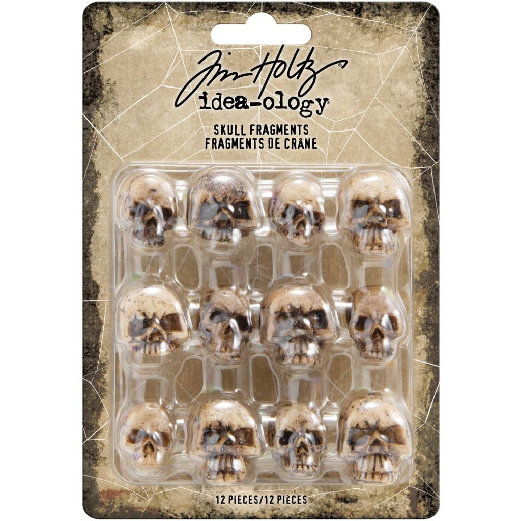 Tim Holtz - Idea-Ology - Resin Skull Fragments 12/Pkg (TH93968)