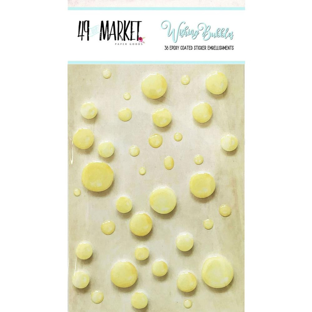 49 And Market - Epoxy Coated Wishing Bubbles 38/Pkg - Fizz (49WB 89203)