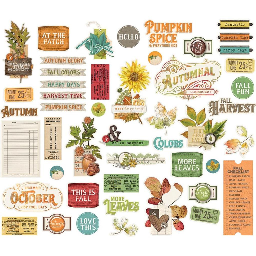 Simple Stories - Bits & Pieces Die-Cuts 48/Pkg - Autumn Splendor (UTS11220)