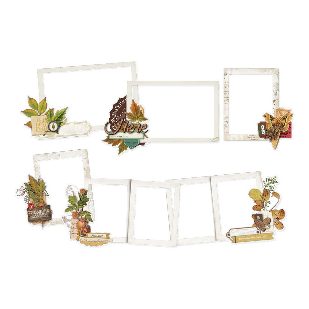 Simple Stories -Layered Frame Die-Cuts 46Pkg - Autumn Splendor (UTS11222)
