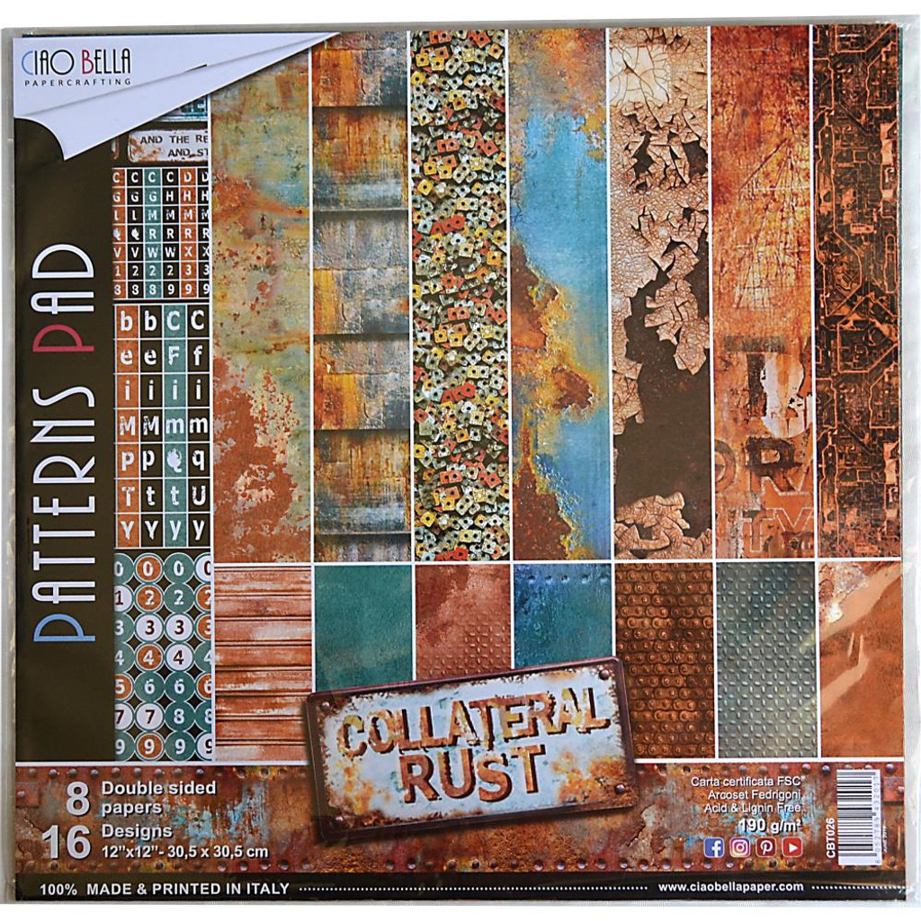 Ciao Bella - Collection Pack 12x12 - Collateral Rust - Coordinating Prints (CBT026)