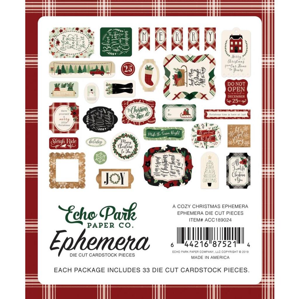 Echo Park - Ephemera Die-Cuts 33/Pkg - A Cozy Christmas (AC189024)